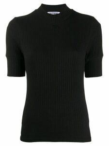 Courrèges ribbed T-shirt - Black