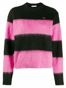 Bella Freud 'Striped Mohair Cropped Sweater' - PINK