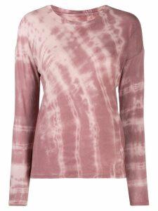Raquel Allegra tie-dye sweatshirt top - PINK