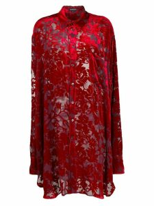 Ann Demeulemeester oversized patterned shirt - Red