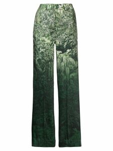 F.R.S For Restless Sleepers printed palazzo trousers - Green