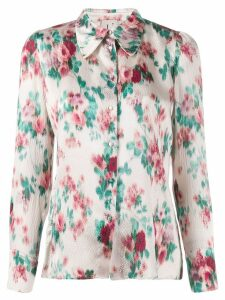 L'Autre Chose floral print long-sleeved shirt - Neutrals