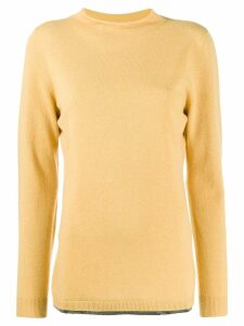 Fabiana Filippi fine knit long sleeve top - Yellow