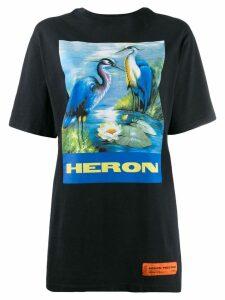 Heron Preston oversized Heron print T-shirt - Blue