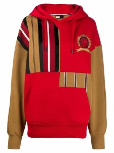 Hilfiger Collection striped patchwork hoody - Red