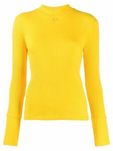 Courrèges ribbed sweater - Yellow