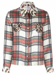 LA PRESTIC OUISTON multi-print shirt - Red