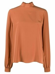 Calvin Klein roll neck long sleeved top - NEUTRALS
