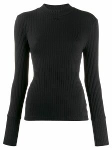 Courrèges ribbed jumper - Black