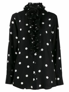 Dolce & Gabbana ruffled collar polka dot blouse - Black