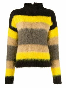 Erika Cavallini textured striped sweater - Brown