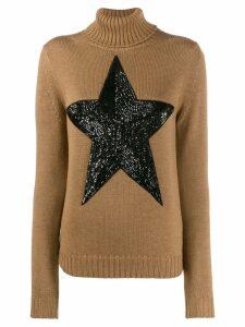 P.A.R.O.S.H. embellished star jumper - Brown