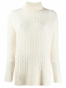 Polo Ralph Lauren oversized roll-neck sweater - White