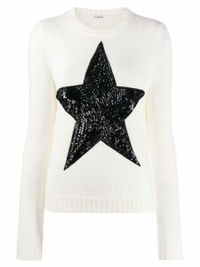 P.A.R.O.S.H. embellished star jumper - White