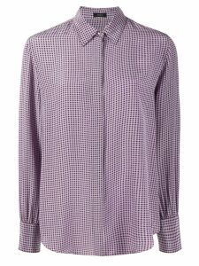 Joseph small houndstooth shirt - PURPLE