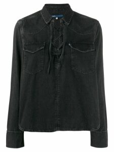 Levi's lace-up detail blouse - Black