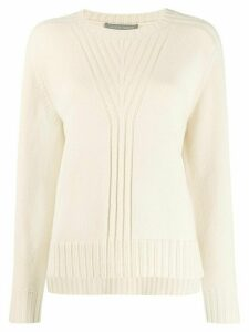 Alberta Ferretti knitted crew neck sweater - NEUTRALS