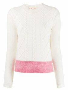 Marni cable knit jumper - White
