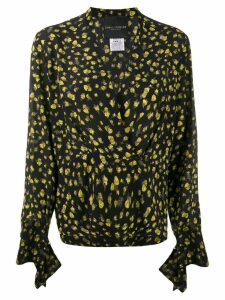 Erika Cavallini silk V-neck blouse - Black