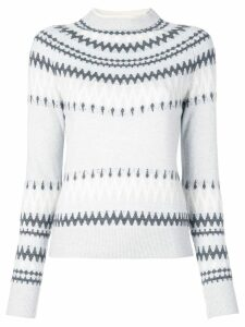 Adam Lippes intarsia knit jumper - Grey