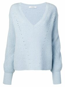 Derek Lam 10 Crosby ribbed bell sleeve sweater - Blue