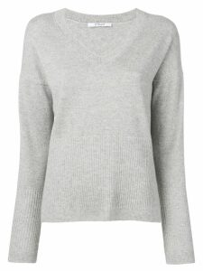 Derek Lam 10 Crosby Twilight Wooster V-Neck Sweater - Grey