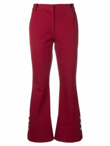 Derek Lam 10 Crosby Cropped Crosby Cotton Twill Flare Trousers with