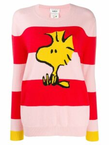 Chinti & Parker striped snoopy jumper - PINK