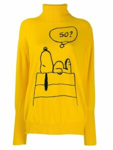 Chinti & Parker Snoopy print jumper - Yellow