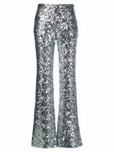 Halpern metallic sequin trousers