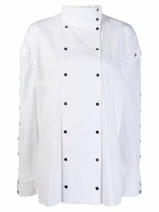 Christopher Kane snap cotton shirt - White