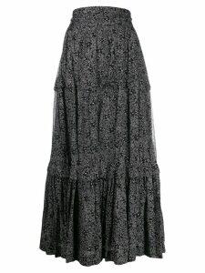 Isabel Marant Étoile floral print maxi skirt - Black