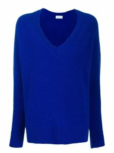 Christian Wijnants long-sleeve flared sweater - Blue