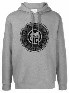 Gaelle Bonheur embroidered logo hoodie - Grey