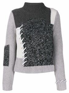 Zoe Jordan ribbed roll neck jumper - Grey