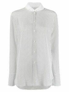 Ermanno Scervino polka dot print longline shirt - White