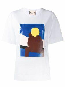 Plan C graphic print T-shirt - White