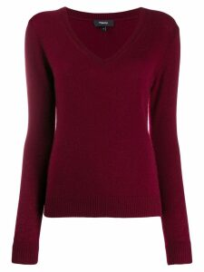Theory cashmere V-neck pullover - Red