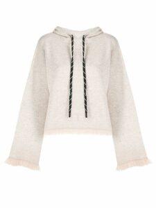 Zoe Jordan fringed hoodie - NEUTRALS