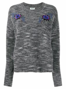 Kenzo sequin embroidered crew neck sweater - Grey