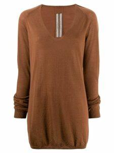Rick Owens knit longline jumper - NEUTRALS