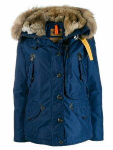 Parajumpers fur trimmed padded coat - Blue
