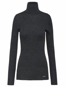 Prada roll-neck ribbed jumper - Grey