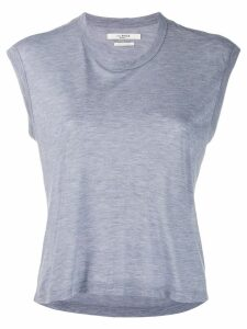 Isabel Marant Étoile cropped round neck T-shirt - Blue