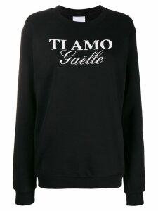 Gaelle Bonheur printed logo sweatshirt - Black