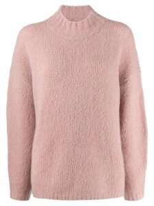 3.1 Phillip Lim oversized mock neck jumper - Pink