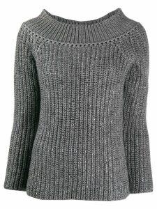 Ermanno Scervino crystal embellished jumper - Grey