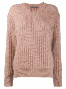 Alberta Ferretti ribbed knit sweater - PINK