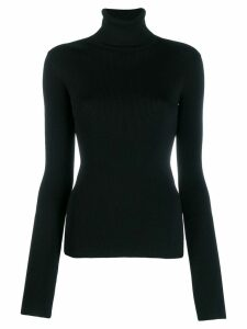 Helmut Lang knitted roll neck top - Black