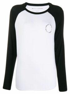 DKNY raglan sleeve jersey top - White